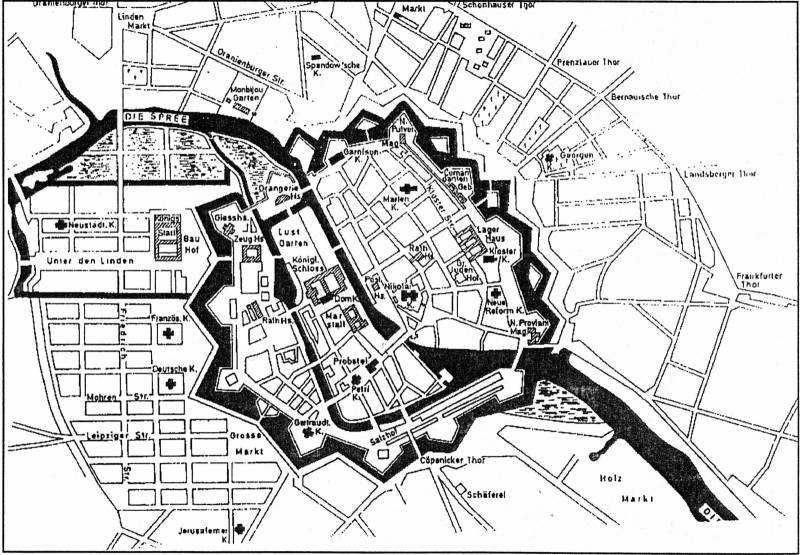Берлин 1685 крепость