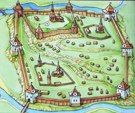 Вязьма схема крепости
