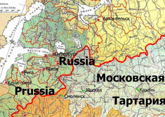 1771 топонимы Британики на карте Шокальского
