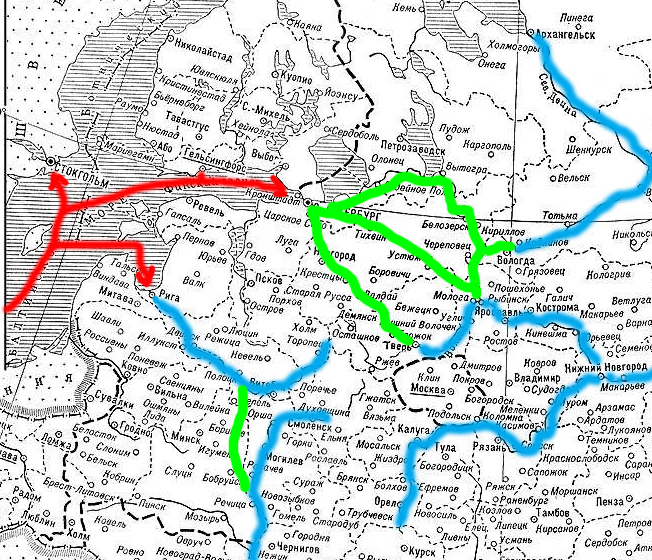 Россия-водные пути